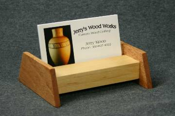 Maple and Mahogany Business Card Display