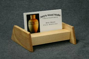 Maple and Oak Business Card Display